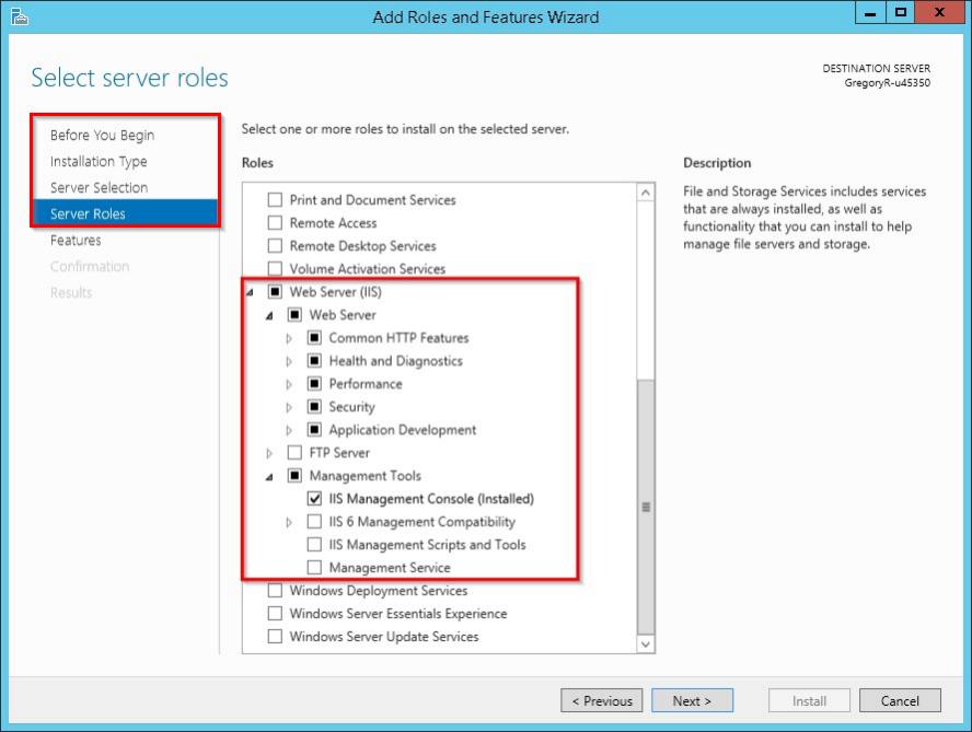 Установка IIS на Windows Server 2012