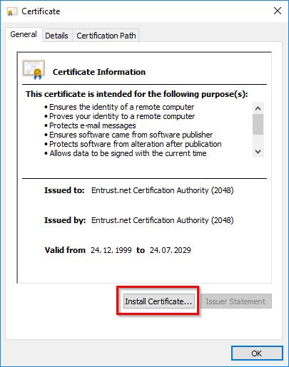 Сертификат Push установка