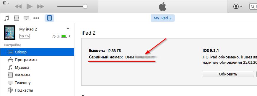 Получение UDID на iPad