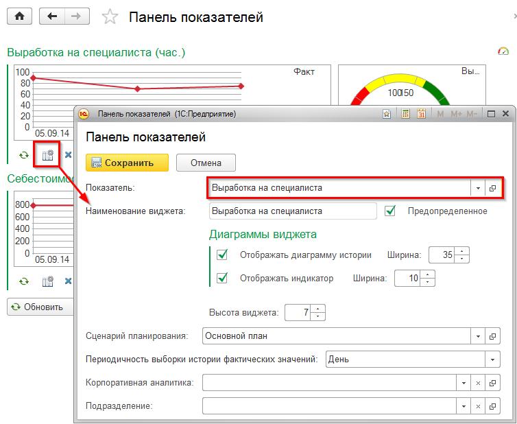 Реализация KPI в системе