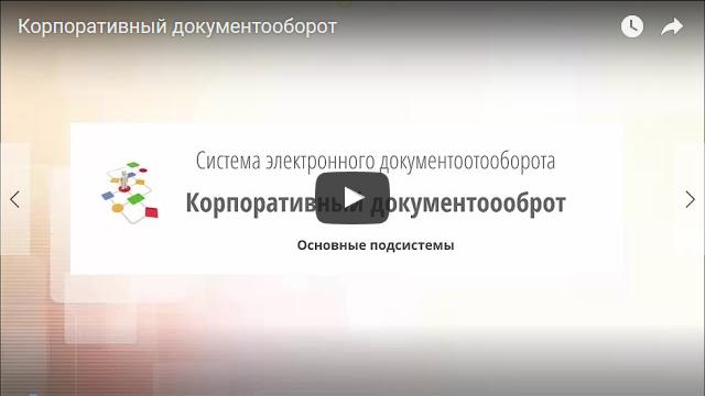 Видеороик Система документооборота